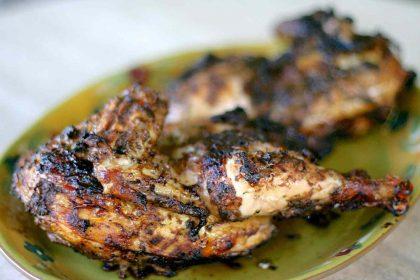 African Jerk Chicken with Salad