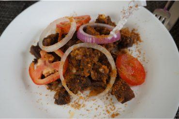 Nigerian goat suya