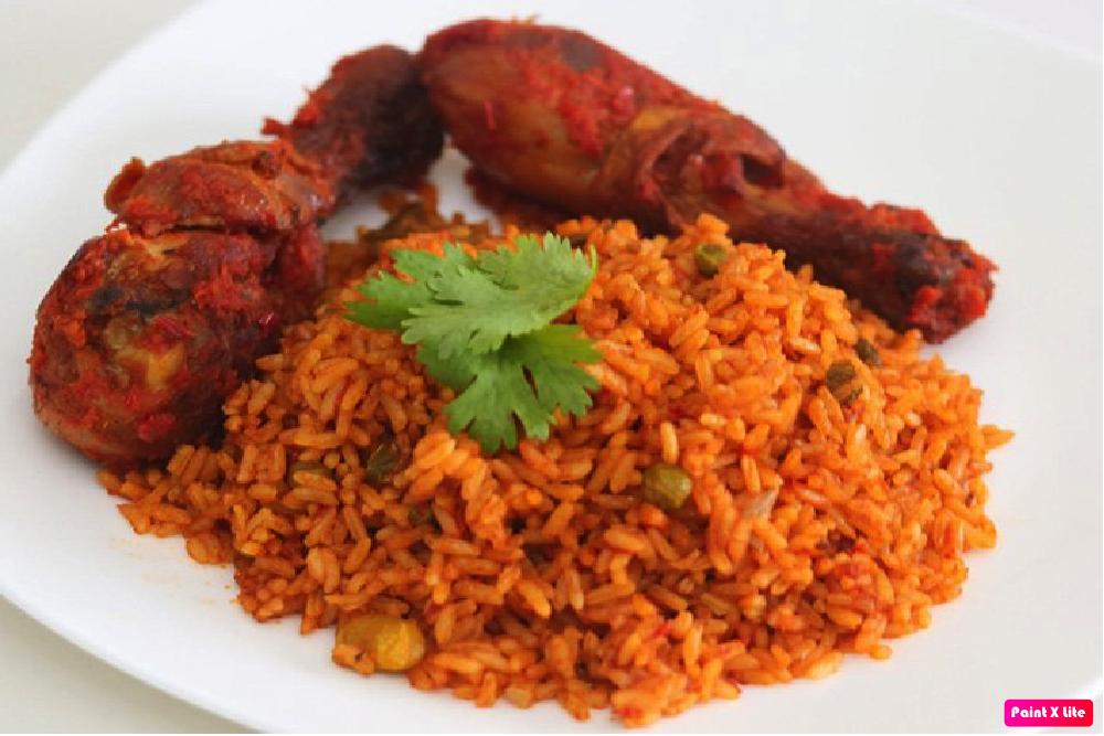 Image result for jollof rice chicken