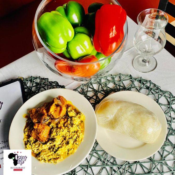 Nigerian Egusi Soup with FuFu
